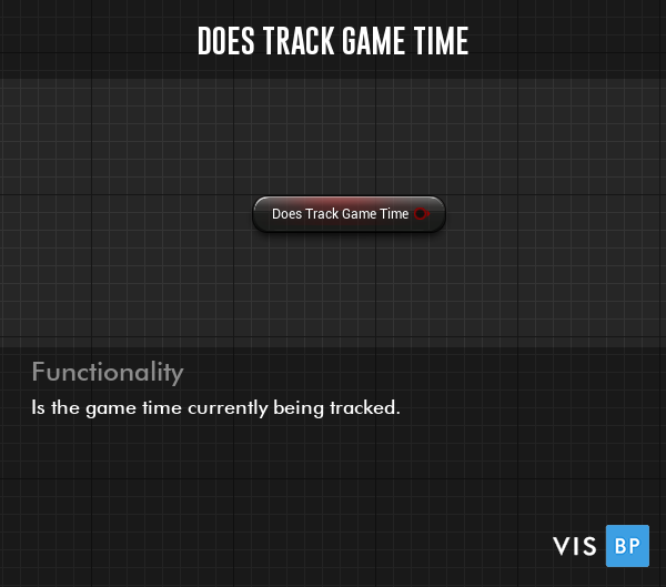 Does Track Game Time Setting - Is the game time currently being tracked.