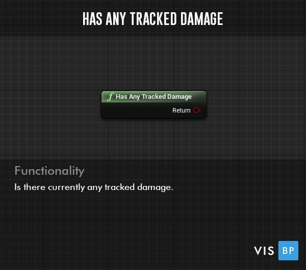 Has Any Tracked Damage Function - Is there currently any tracked damage.